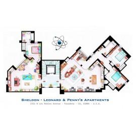 THE BIG BANG THEORY [Ilustración] Plano Apartamentos