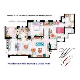 WILL & GRACE [Ilustración] Plano Apartamento