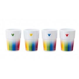 Pack 4 Vasos Mickey - Rainbow