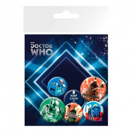 Set Chapas Doctor Who